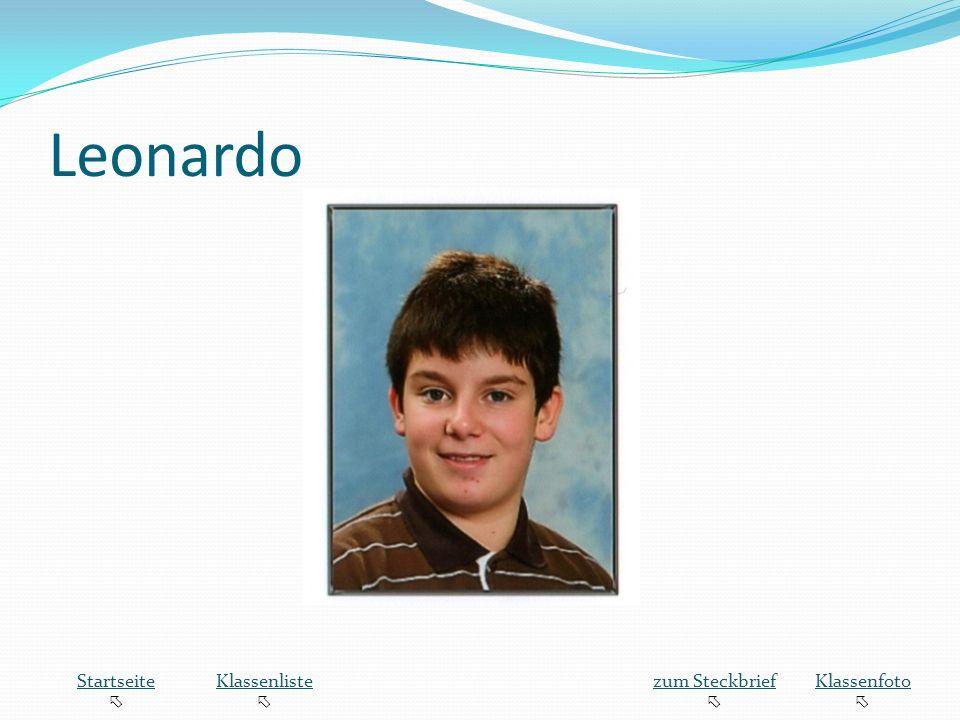 Leonardo Startseite  Klassenliste zum Steckbrief Klassenfoto