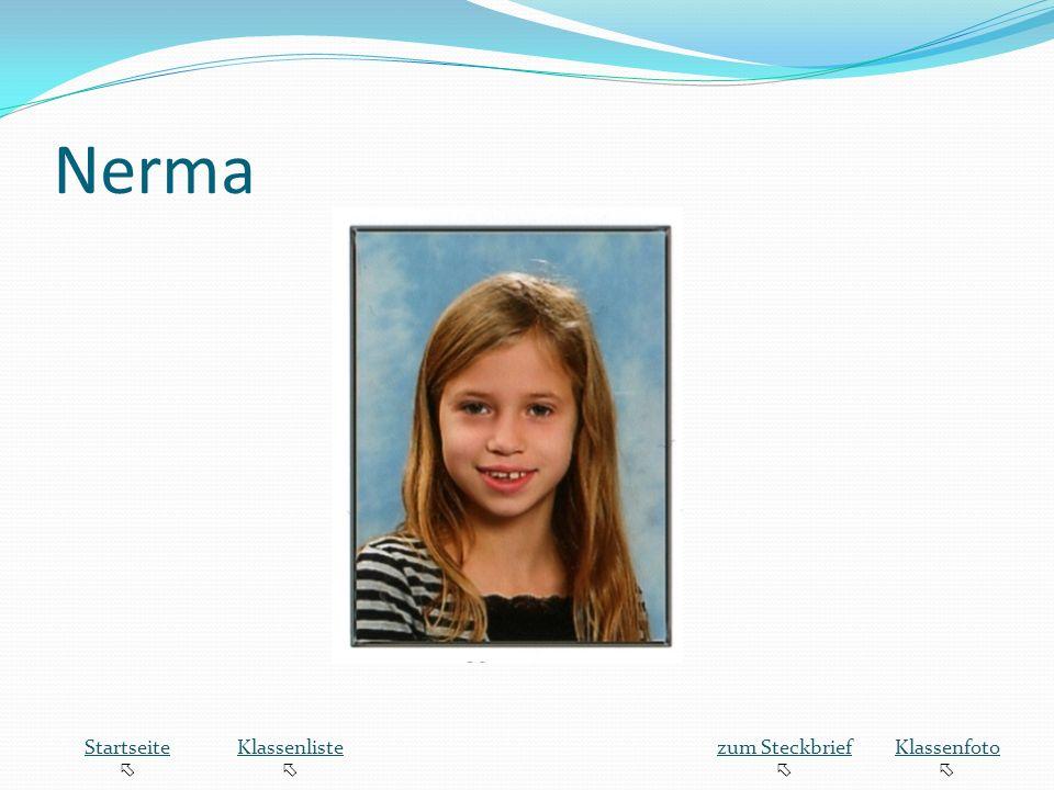 Nerma Startseite  Klassenliste zum Steckbrief Klassenfoto