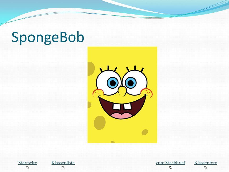 SpongeBob Startseite  Klassenliste zum Steckbrief Klassenfoto