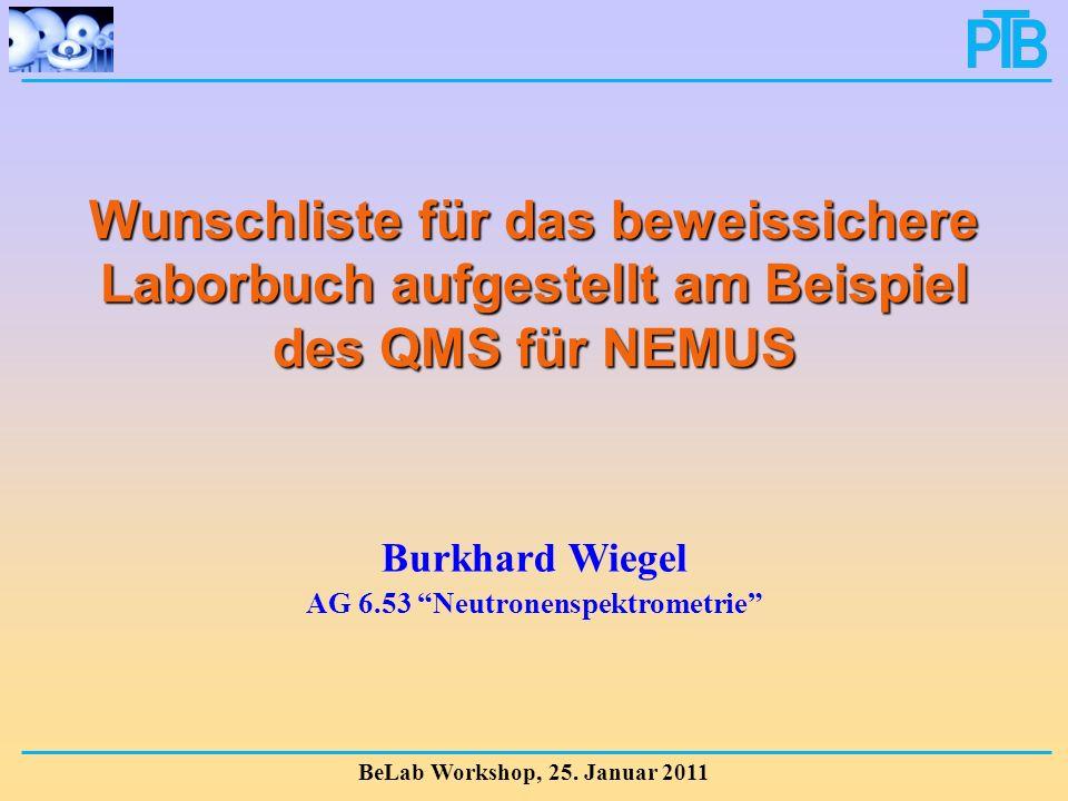 AG 6.53 Neutronenspektrometrie