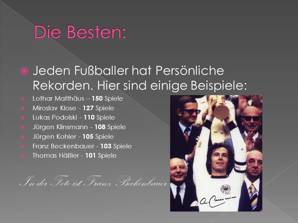 Die Besten: In der Foto ist Franz Beckenbauer