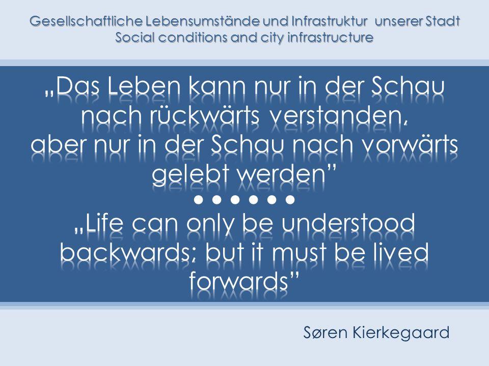"""•••••• """"Das Leben kann nur in der Schau nach rückwärts verstanden,"""