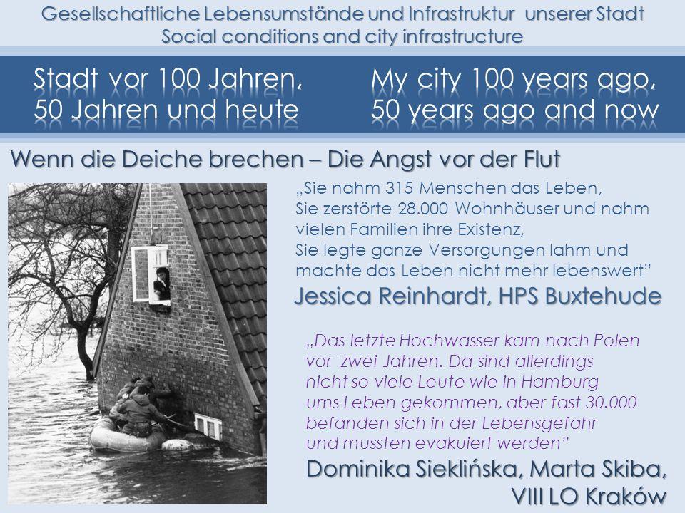 Stadt vor 100 Jahren, 50 Jahren und heute