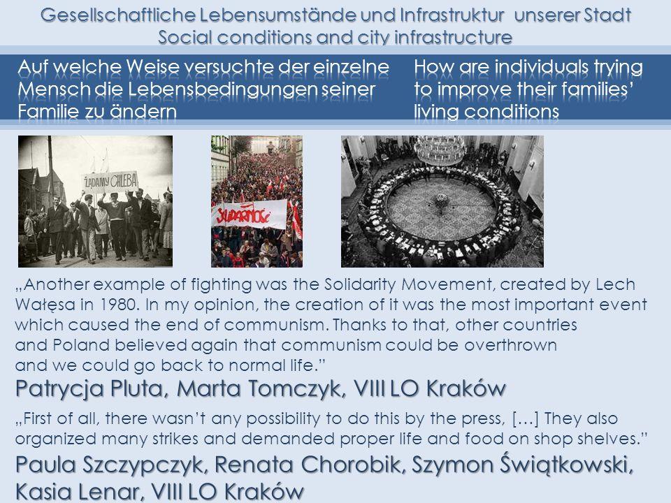 Patrycja Pluta, Marta Tomczyk, VIII LO Kraków