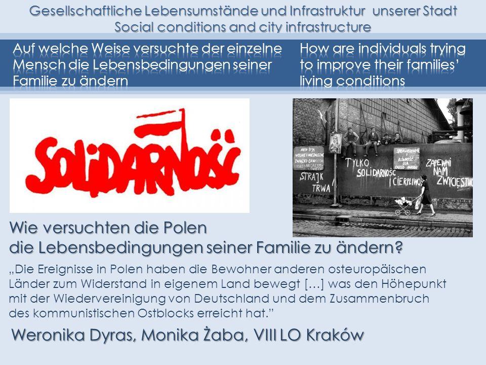 Weronika Dyras, Monika Żaba, VIII LO Kraków Wie versuchten die Polen