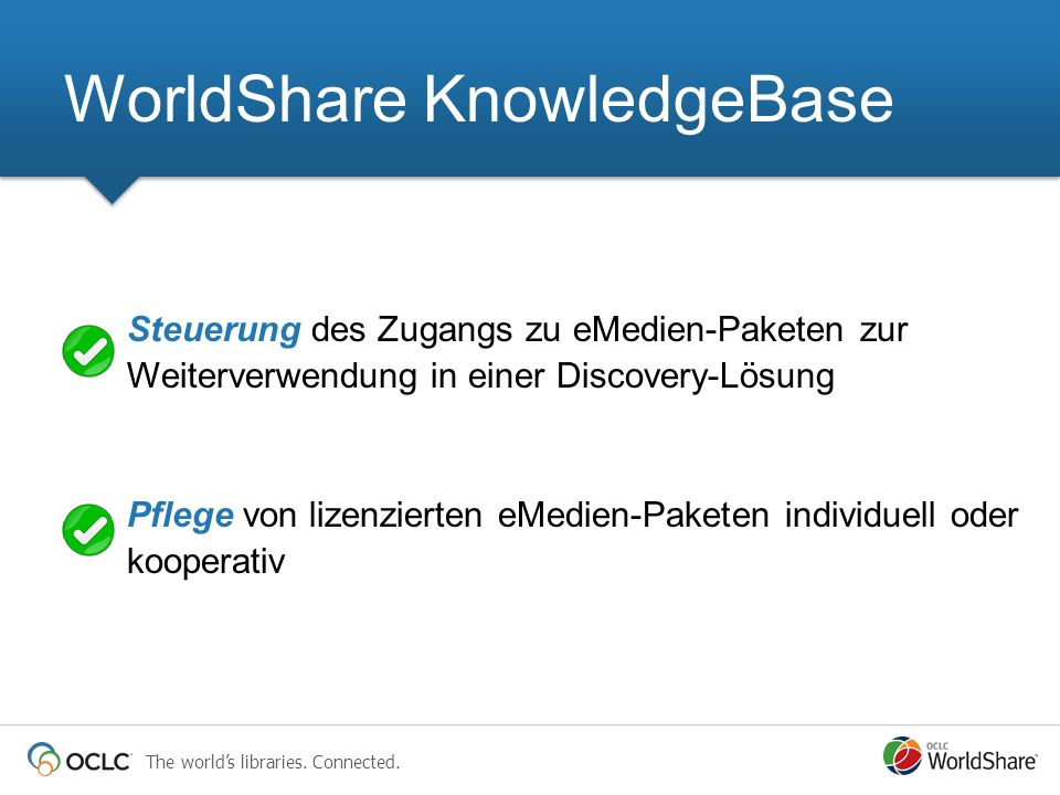 WorldShare KnowledgeBase