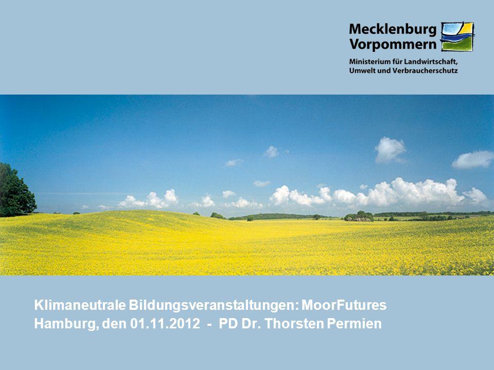 Klimaneutrale Bildungsveranstaltungen: MoorFutures Hamburg, den 01. 11