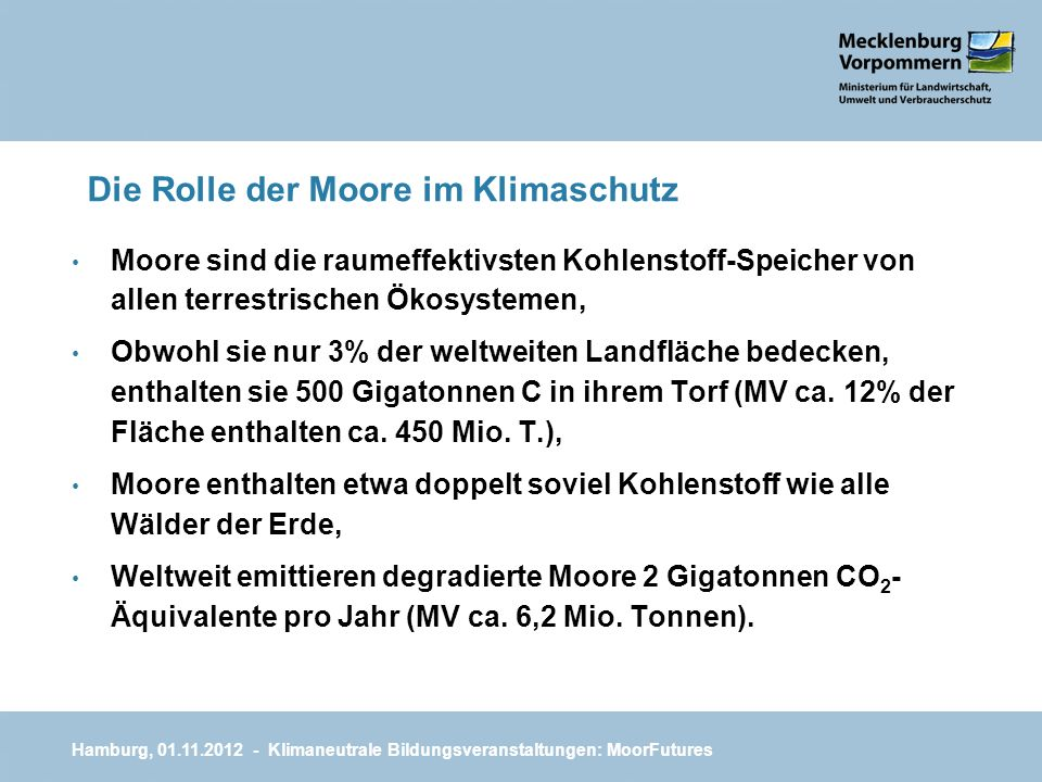 Die Rolle der Moore im Klimaschutz