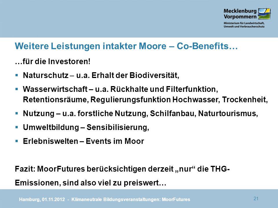 Weitere Leistungen intakter Moore – Co-Benefits…