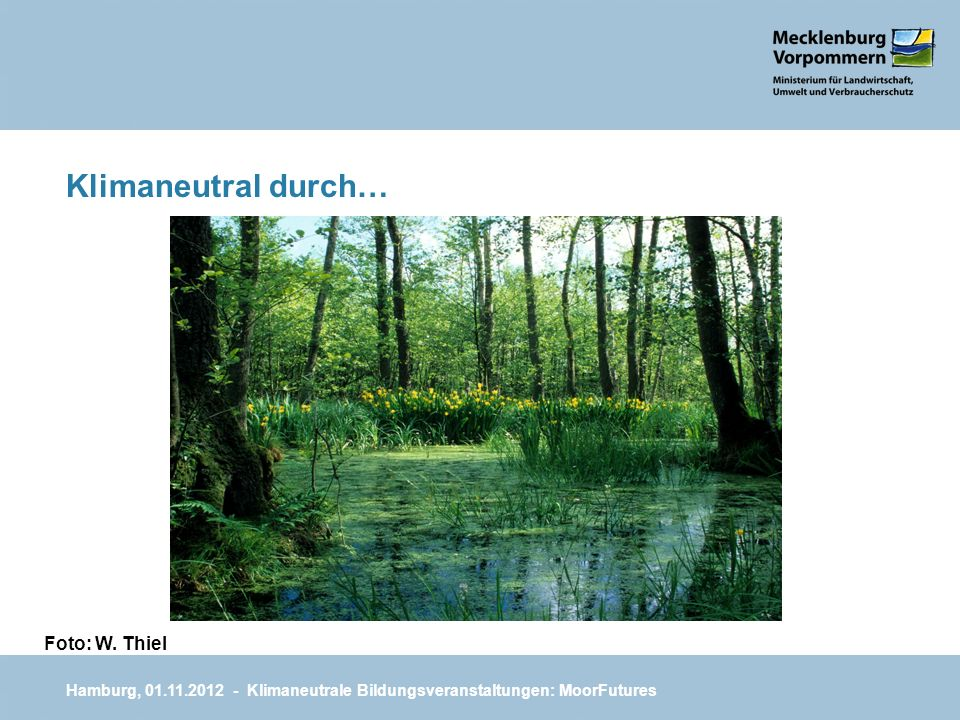 Klimaneutral durch… Foto: W. Thiel