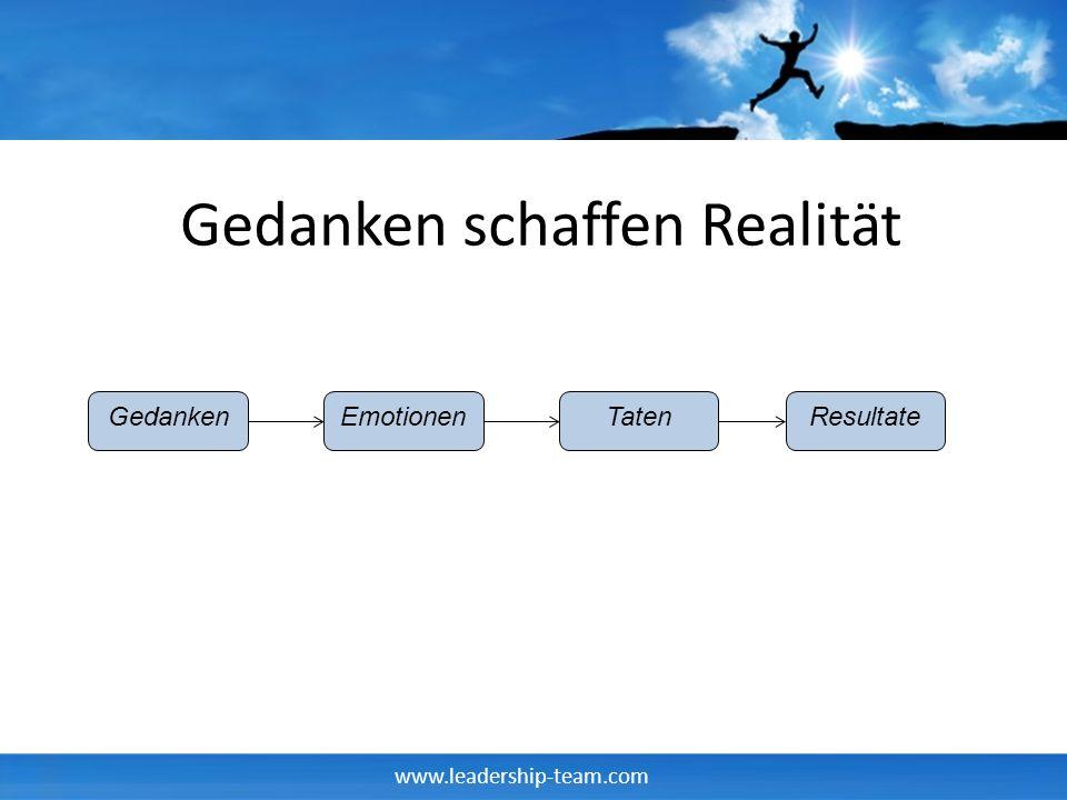 Gedanken schaffen Realität