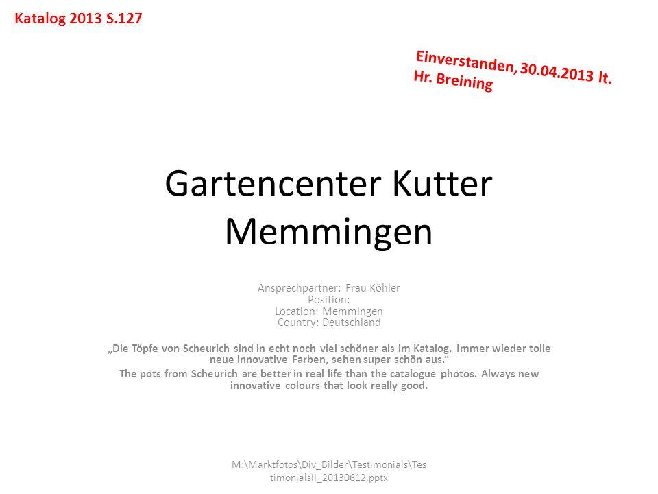 Gartencenter Kutter Memmingen