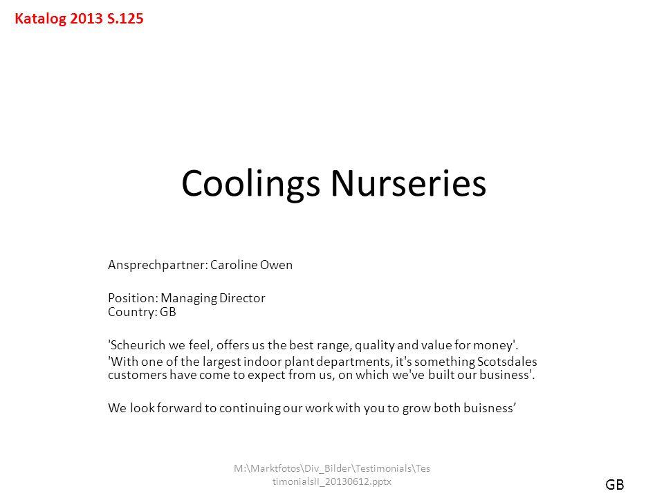 Coolings Nurseries Katalog 2013 S.125 GB
