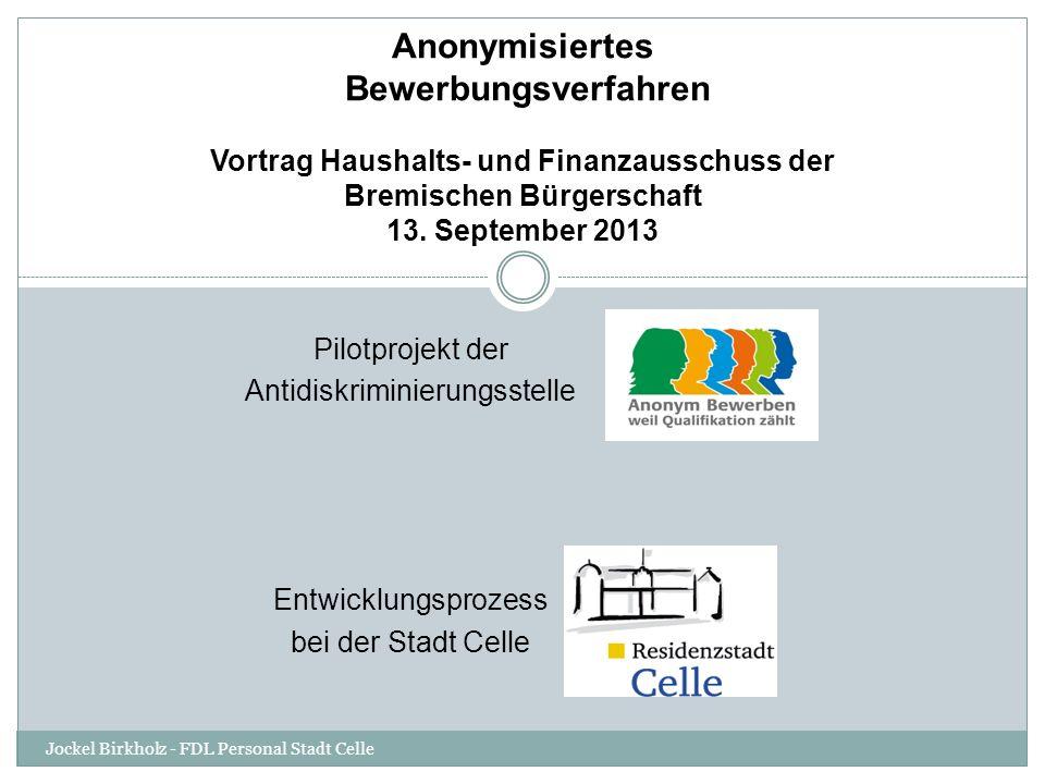Vortrag Haushalts- und Finanzausschuss der Bremischen Bürgerschaft