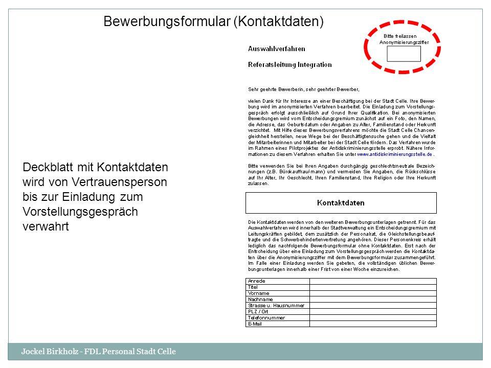 Bewerbungsformular (Kontaktdaten)
