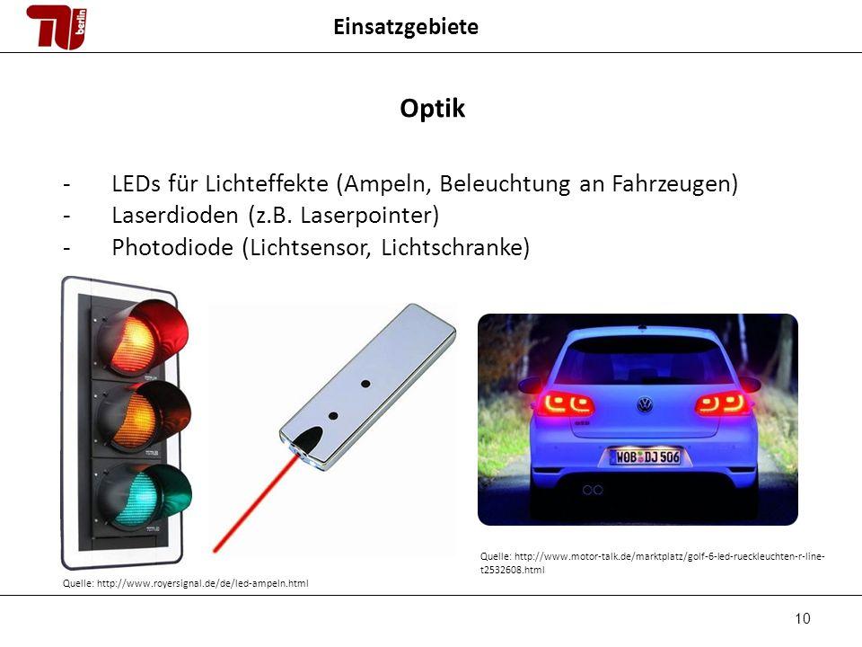 Optik LEDs für Lichteffekte (Ampeln, Beleuchtung an Fahrzeugen)