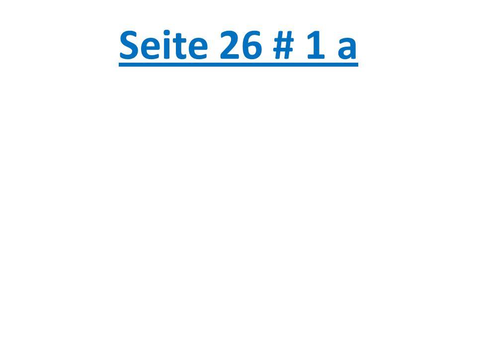 Seite 26 # 1 a