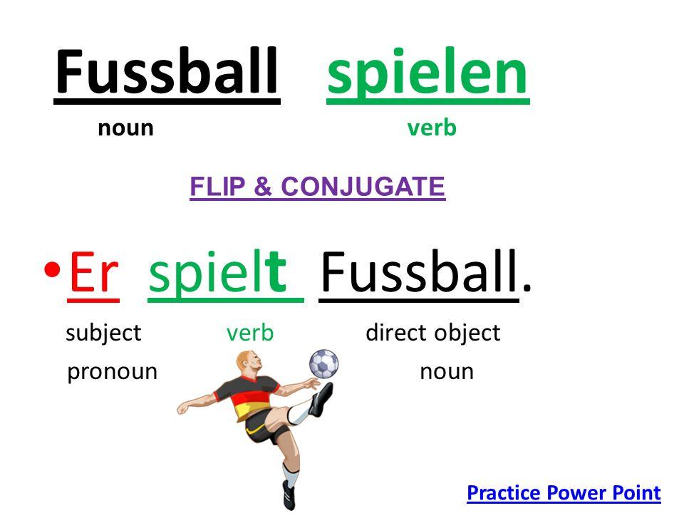 Fussball spielen noun verb