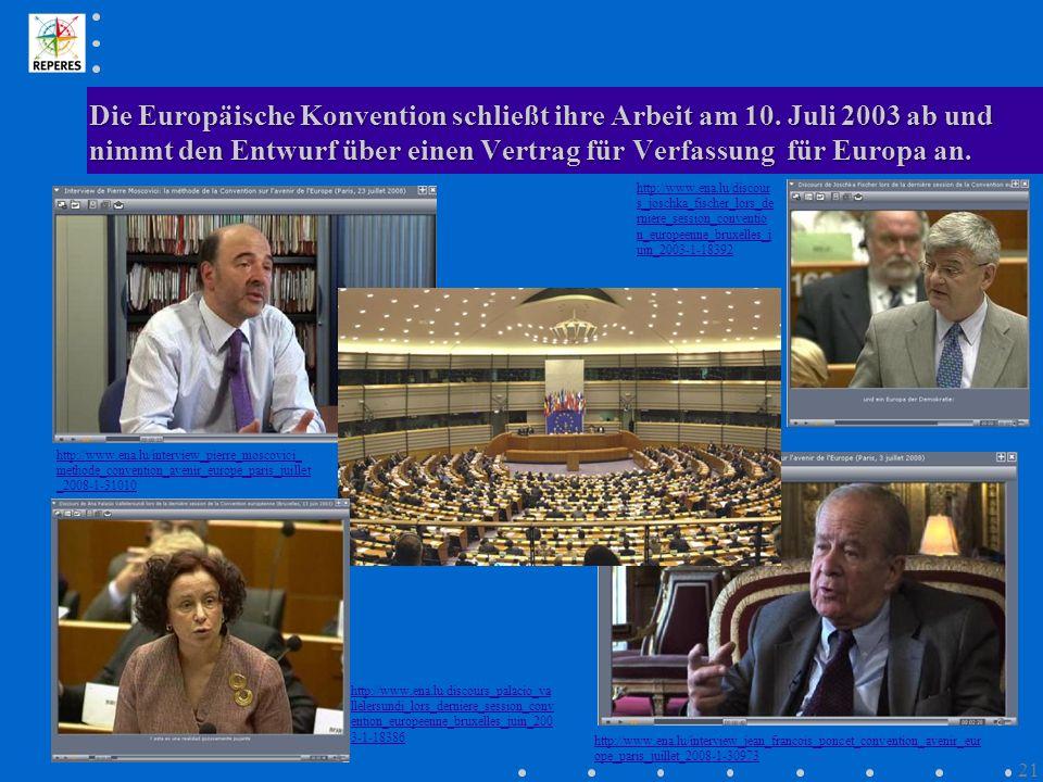 Die Europäische Konvention schließt ihre Arbeit am 10