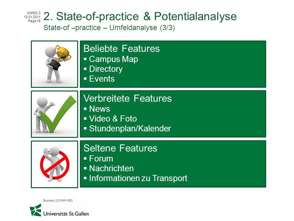 2. State-of-practice & Potentialanalyse State-of –practice – Umfeldanalyse (3/3)
