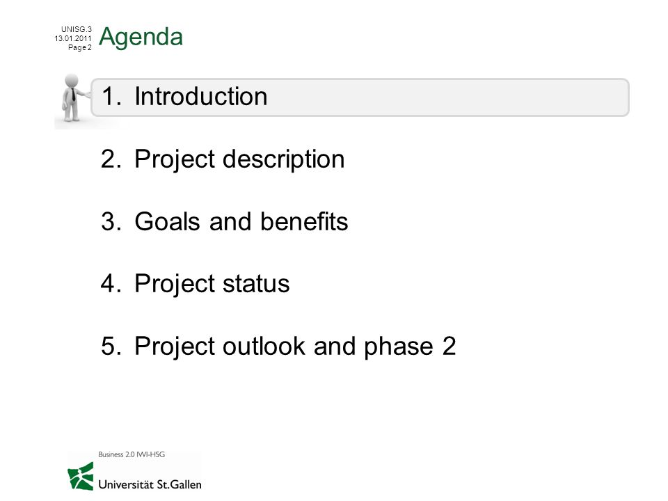 Project outlook and phase 2