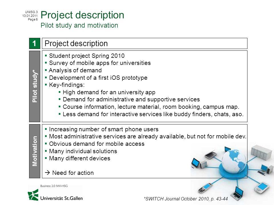 Project description Pilot study and motivation