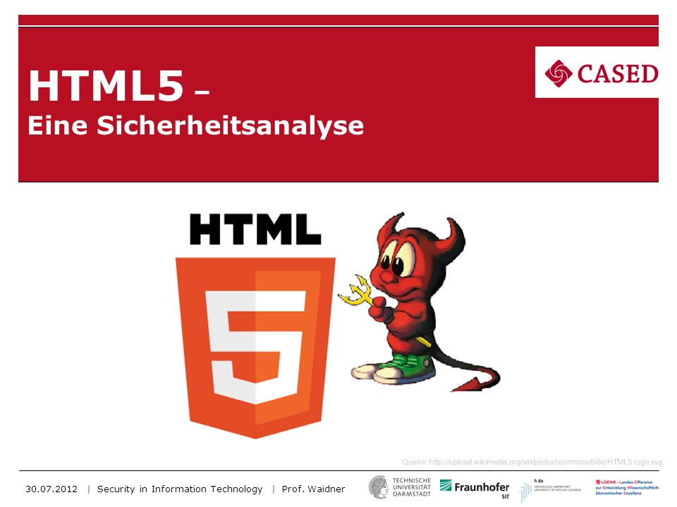 HTML5 – Eine Sicherheitsanalyse