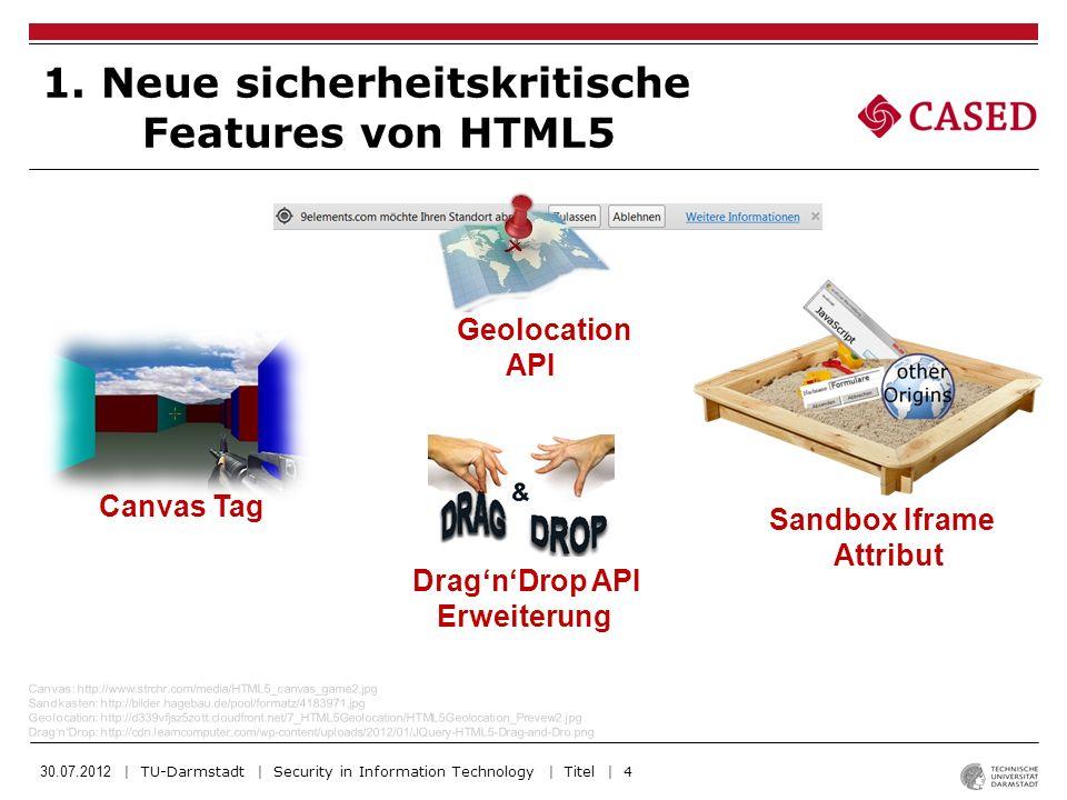 1. Neue sicherheitskritische Features von HTML5