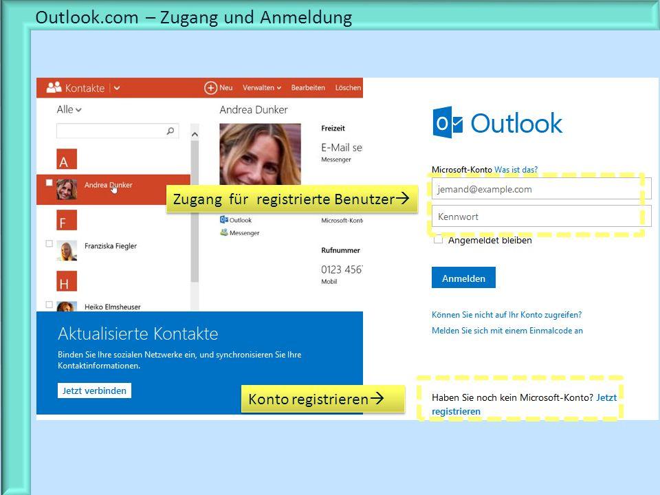Outlook.com – Zugang und Anmeldung