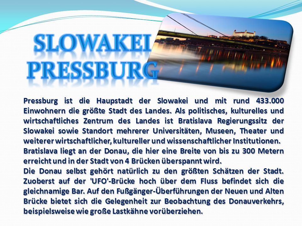Slowakei Pressburg.
