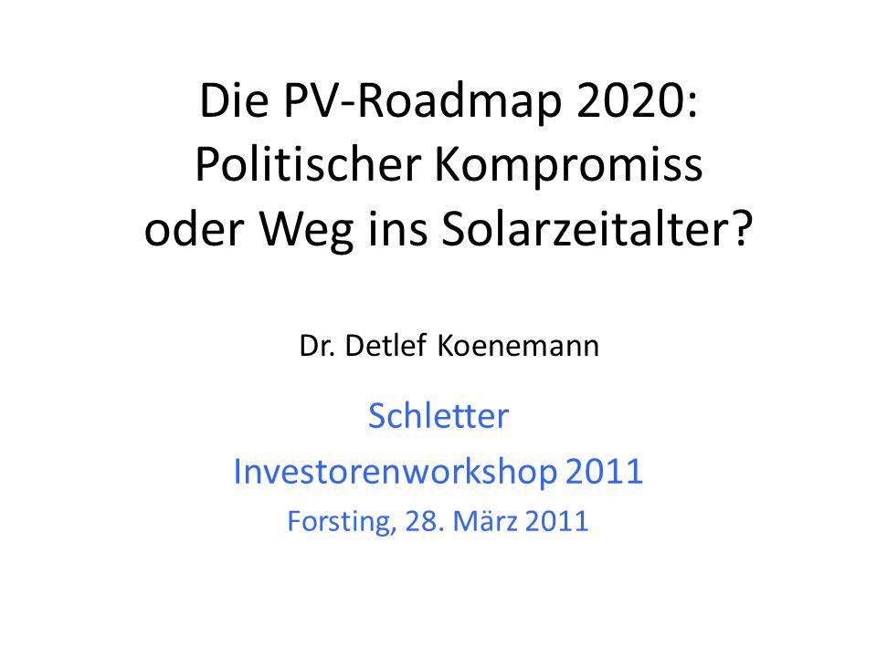 Politischer Kompromiss oder Weg ins Solarzeitalter