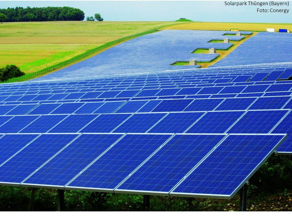 Solarpark Thüngen (Bayern) Foto: Conergy
