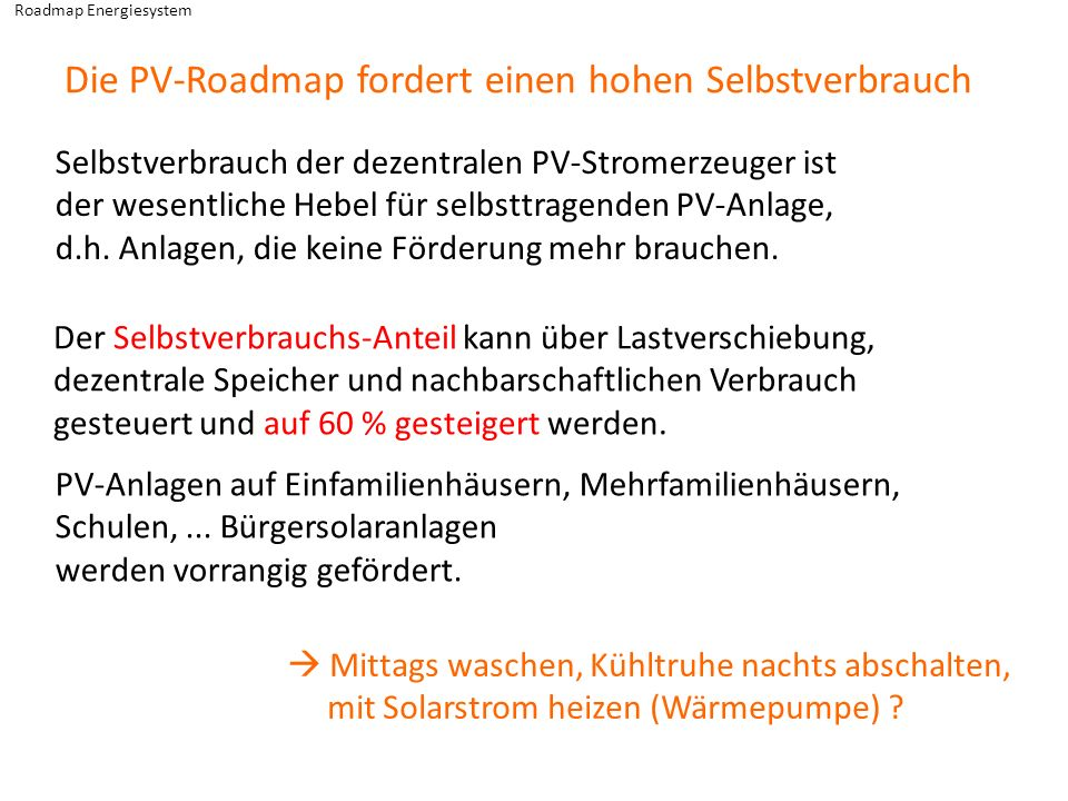 Roadmap Energiesystem