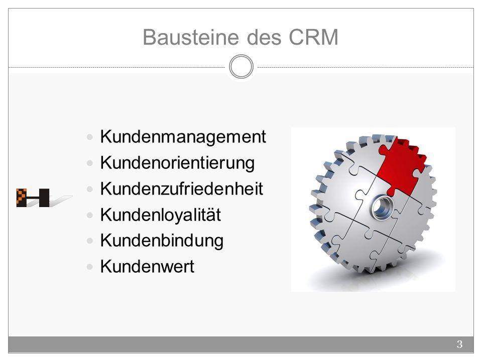 Bausteine des CRM Kundenmanagement Kundenorientierung