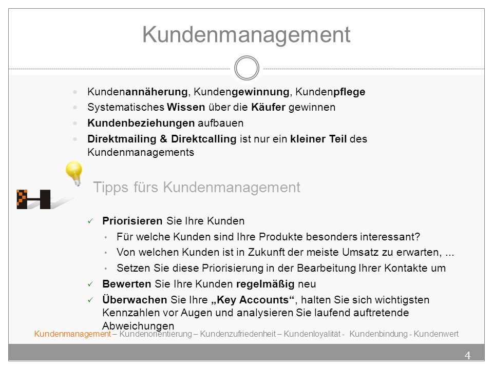 Kundenmanagement Tipps fürs Kundenmanagement