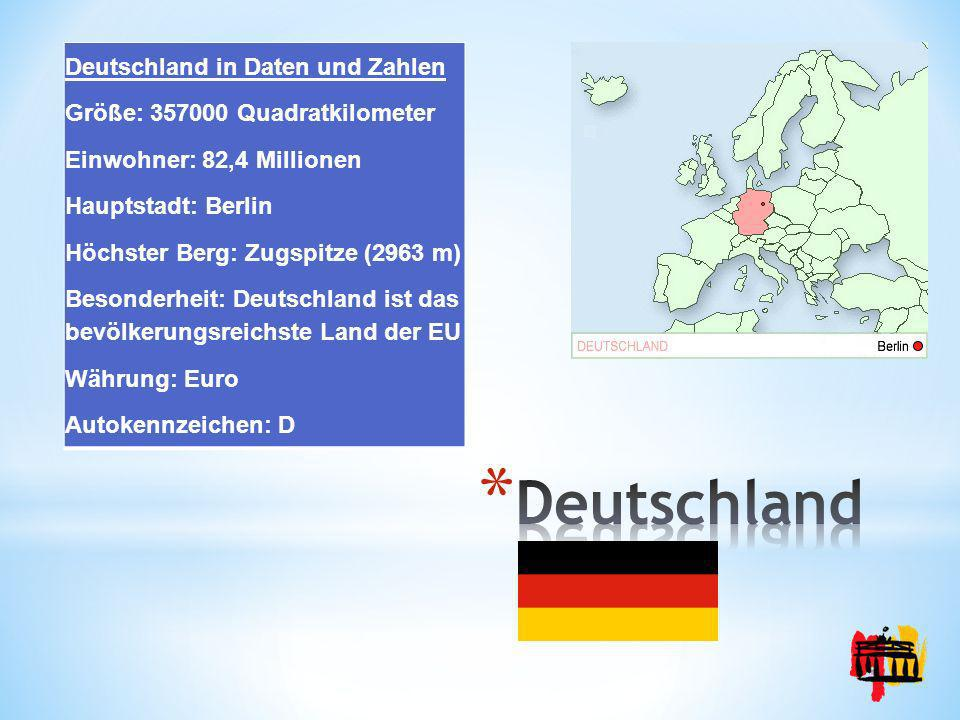 Deutschland Deutschland in Daten und Zahlen