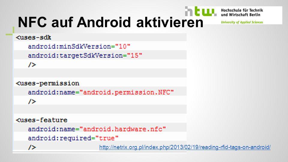 NFC auf Android aktivieren