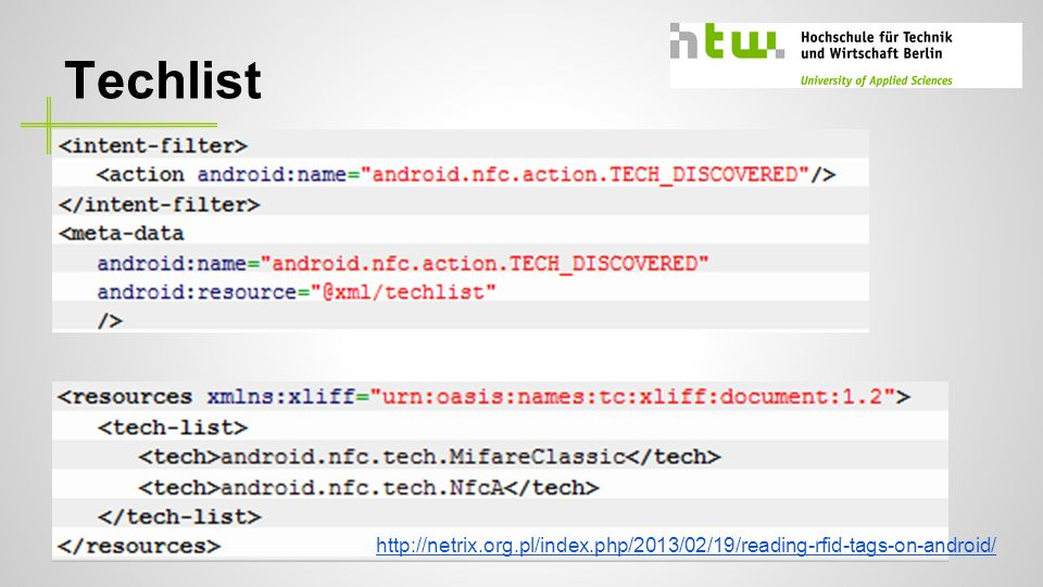 Techlist - Techlist definieren