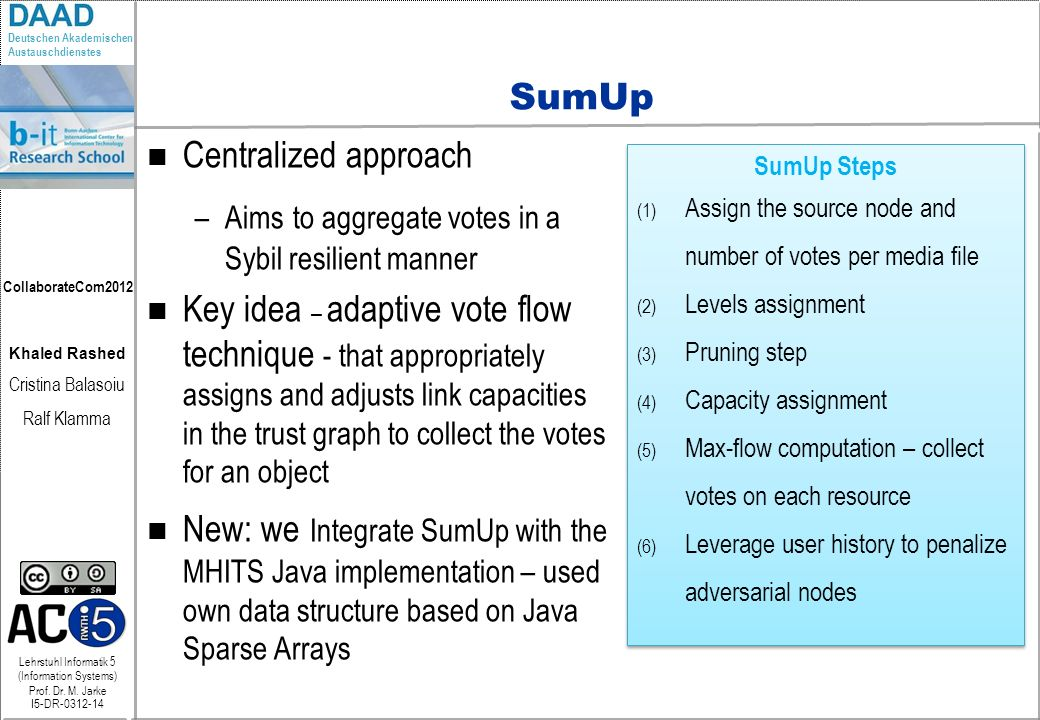 SumUp Centralized approach