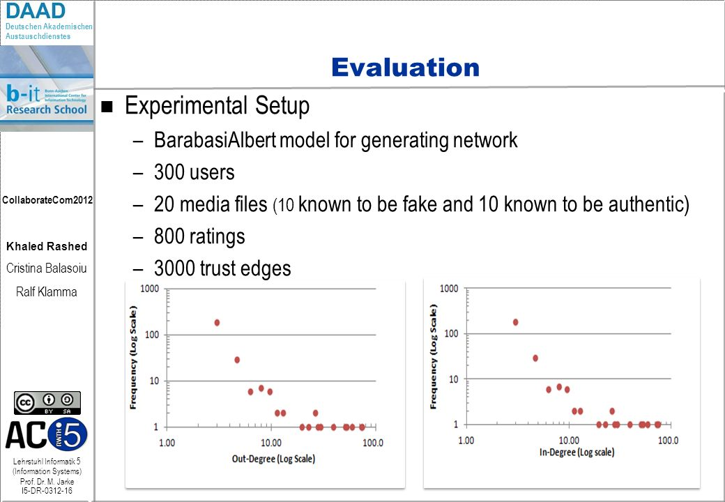 Evaluation Experimental Setup
