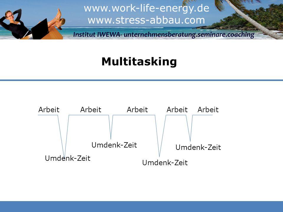Multitasking Arbeit Arbeit Arbeit Arbeit Arbeit Umdenk-Zeit