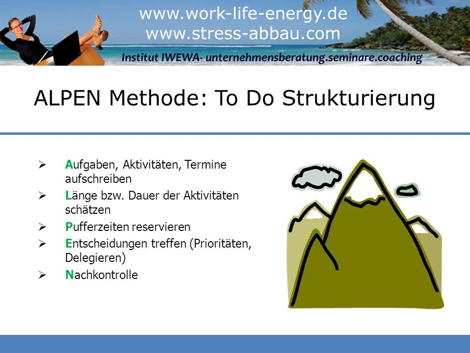 ALPEN Methode: To Do Strukturierung