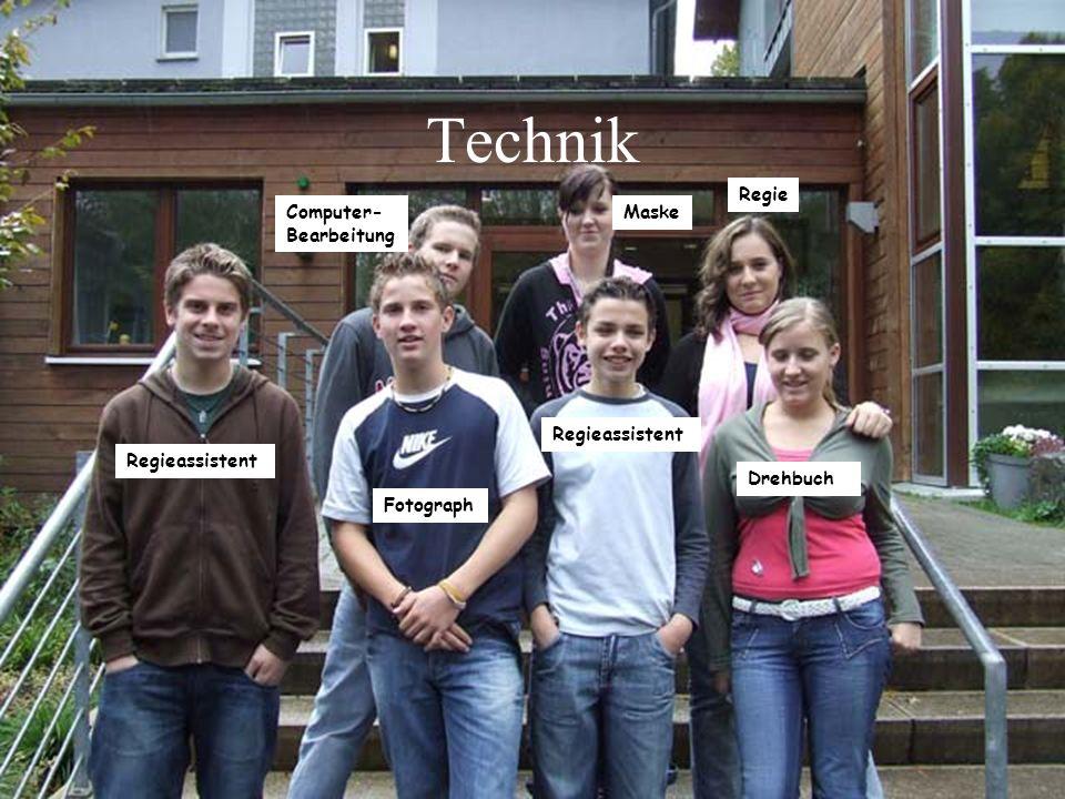 Technik Regie Computer-Bearbeitung Maske Regieassistent Regieassistent