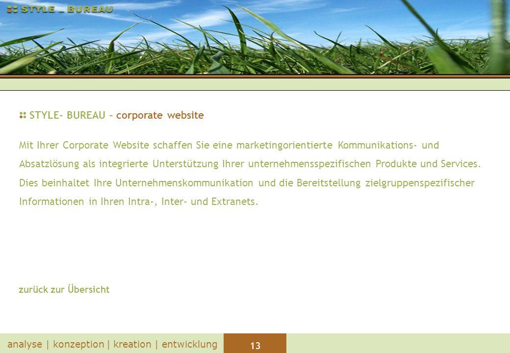 STYLE- BUREAU – corporate website