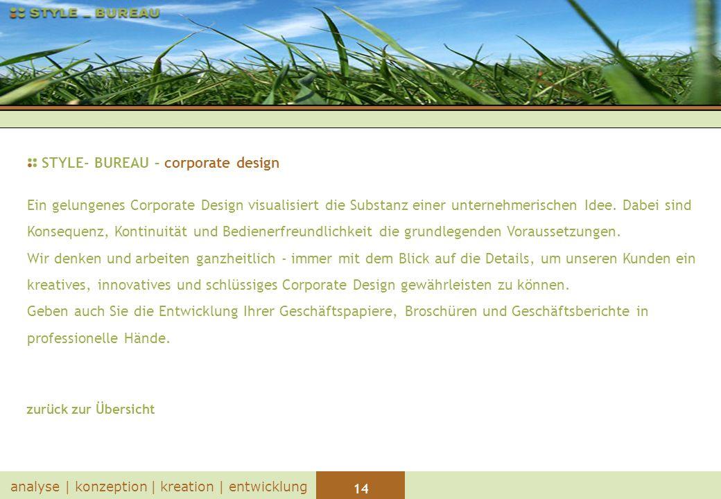 STYLE- BUREAU – corporate design