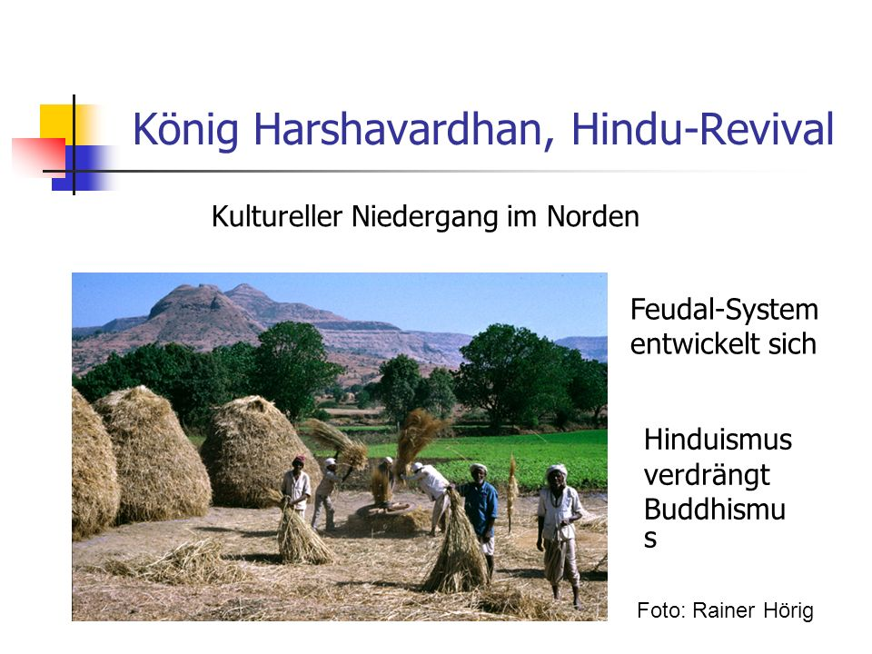 König Harshavardhan, Hindu-Revival