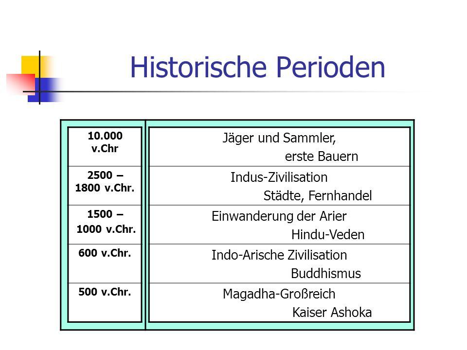Historische Perioden Jäger und Sammler, erste Bauern