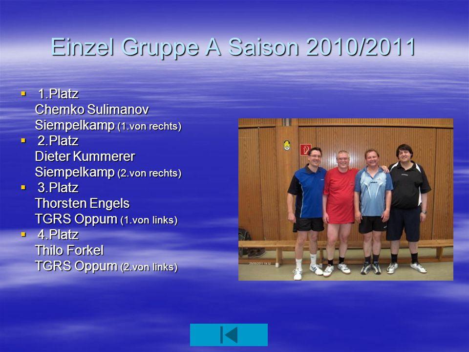 Einzel Gruppe A Saison 2010/2011