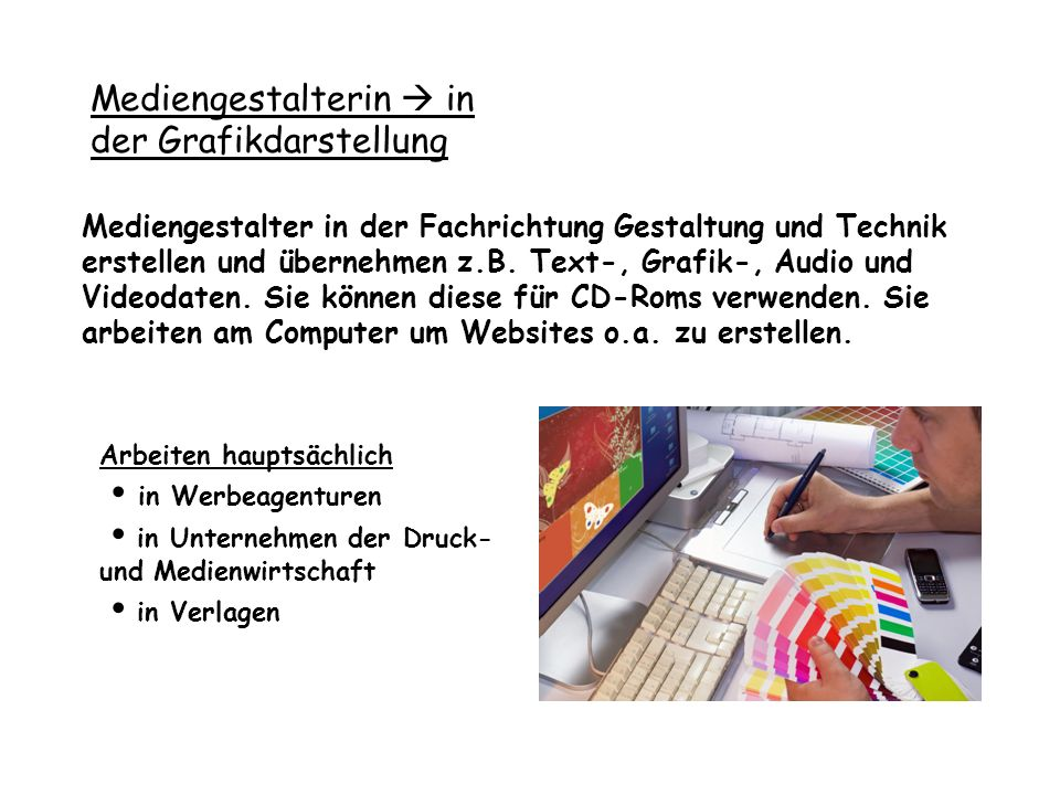 Mediengestalterin  in der Grafikdarstellung