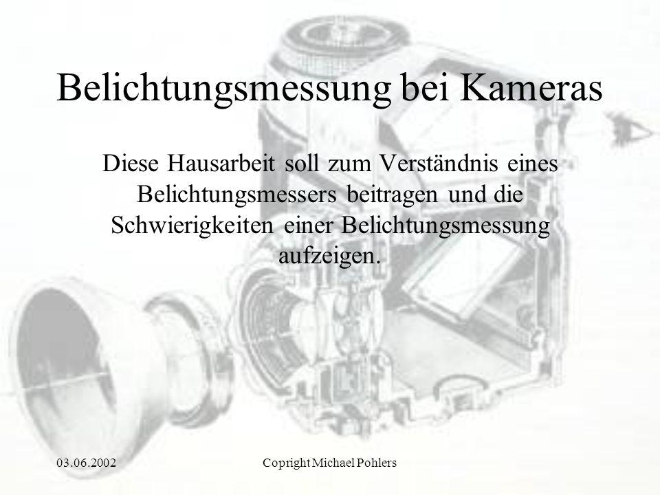 Belichtungsmessung bei Kameras